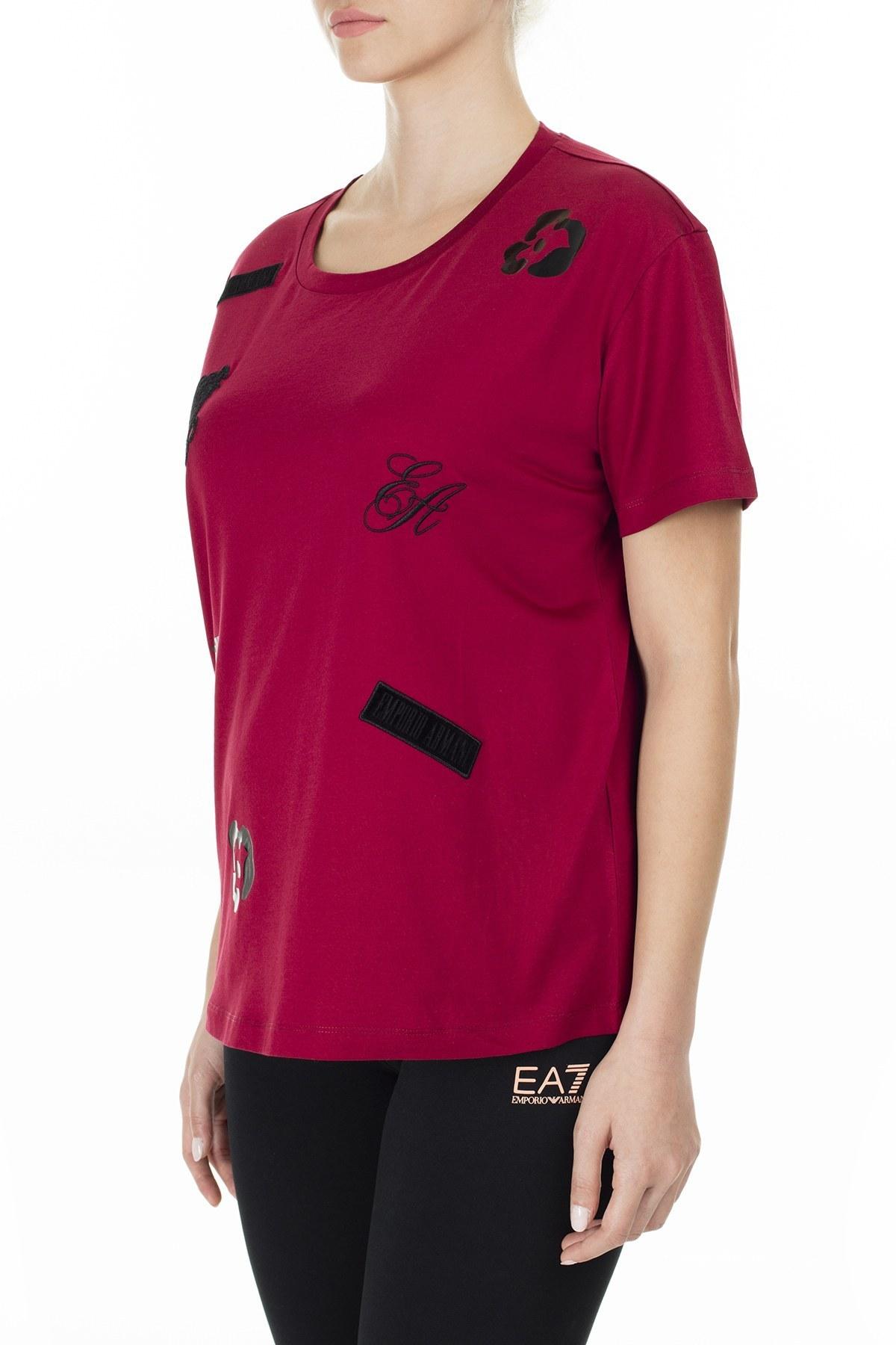 Emporio Armani Kadın T Shirt 6G2T7M 2J95Z 0340 BORDO