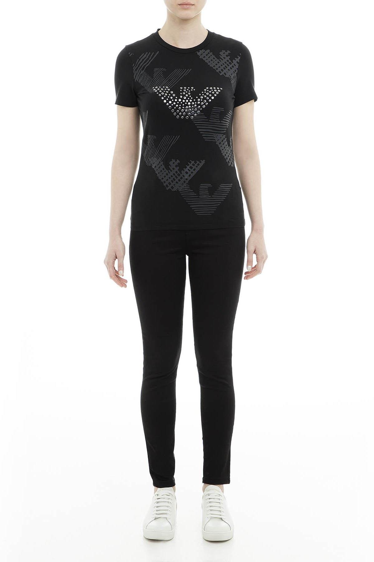 Emporio Armani Kadın T Shirt 6Z2T69 2J07Z 0999 SİYAH