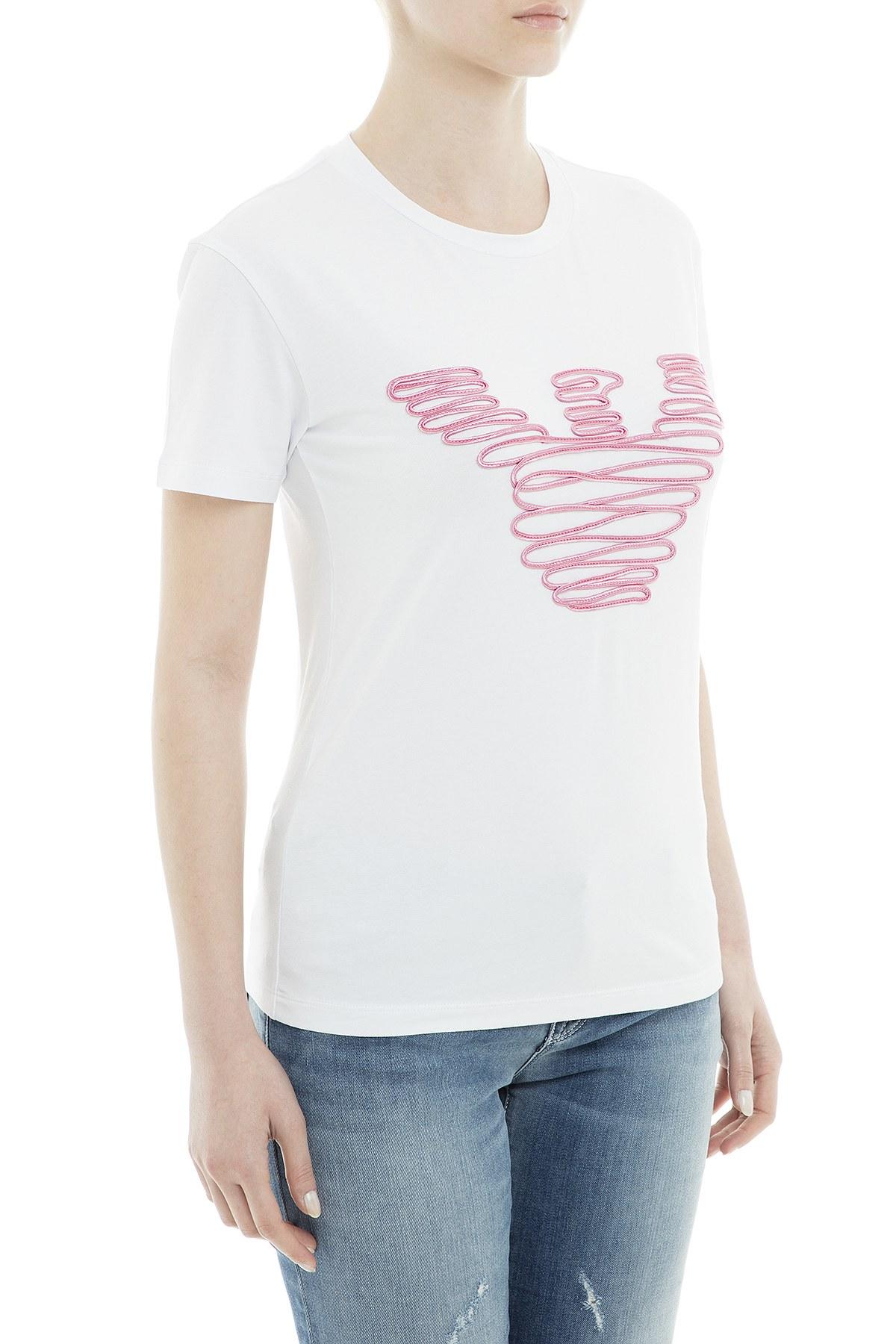 Emporio Armani Kadın T Shirt 6Z2T85 2JQAZ 0100 BEYAZ
