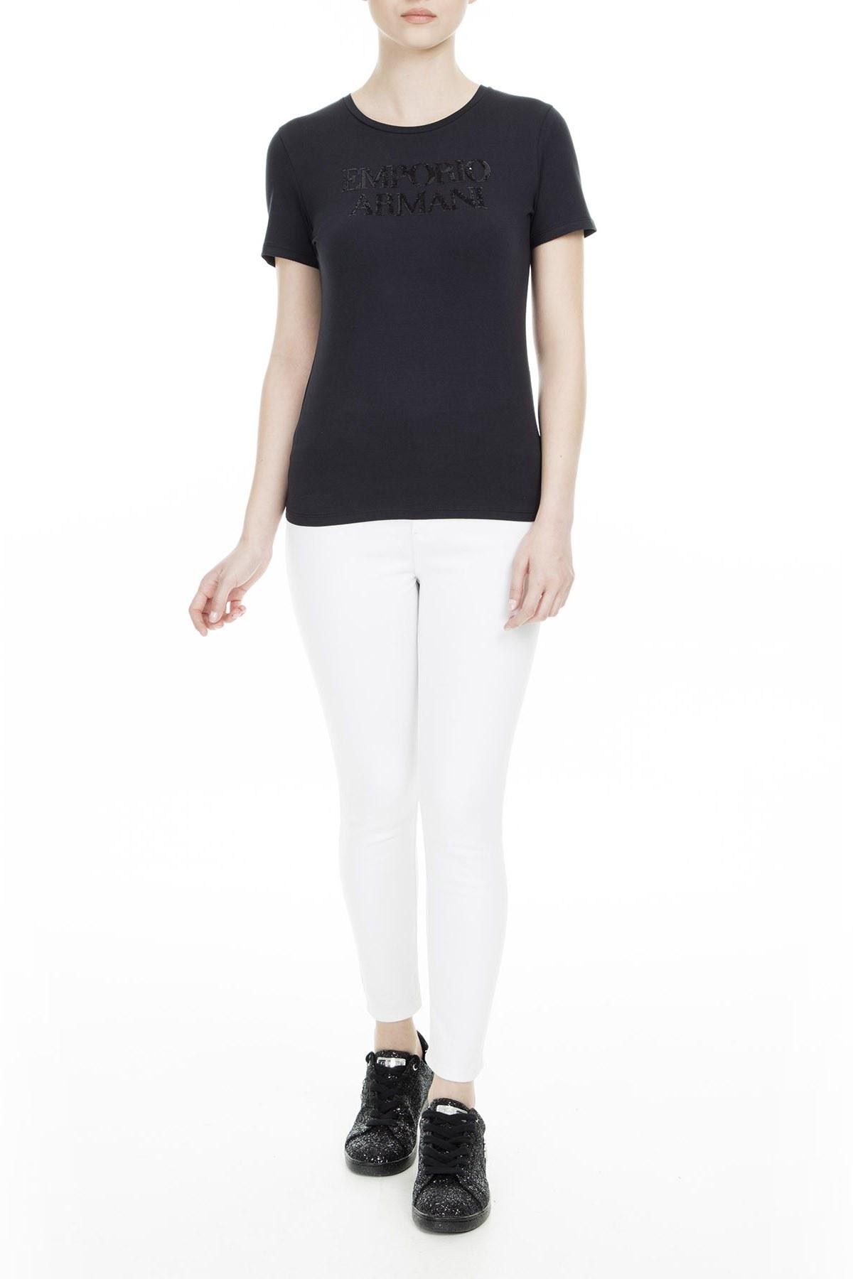 Emporio Armani Kadın T Shirt S 3G2T86 2JQAZ 0920 LACİVERT