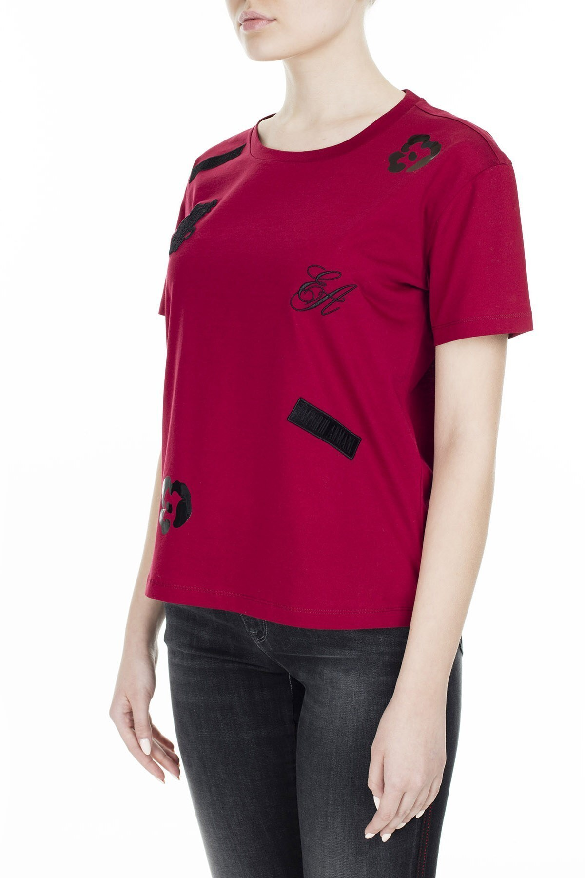 Emporio Armani Kadın T Shirt S 6G2T7M 2J95Z 0340 BORDO