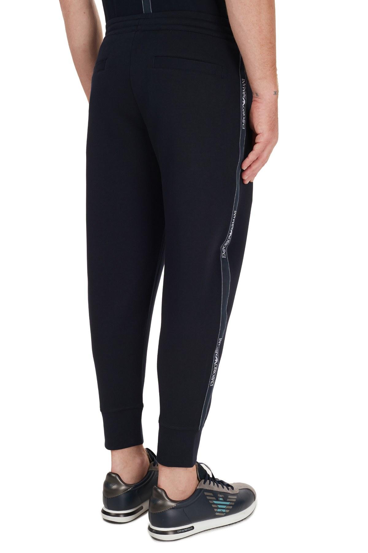 Emporio Armani Logo Bantlı Pamuklu Jogger Erkek Pantolon 6H1P50 1JHSZ 0920 LACİVERT
