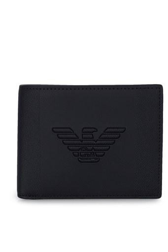 Emporio Armani Logo Baskılı Anahtarlık Detaylı Erkek Cüzdan Y4R174 YFE6J 81072 SİYAH