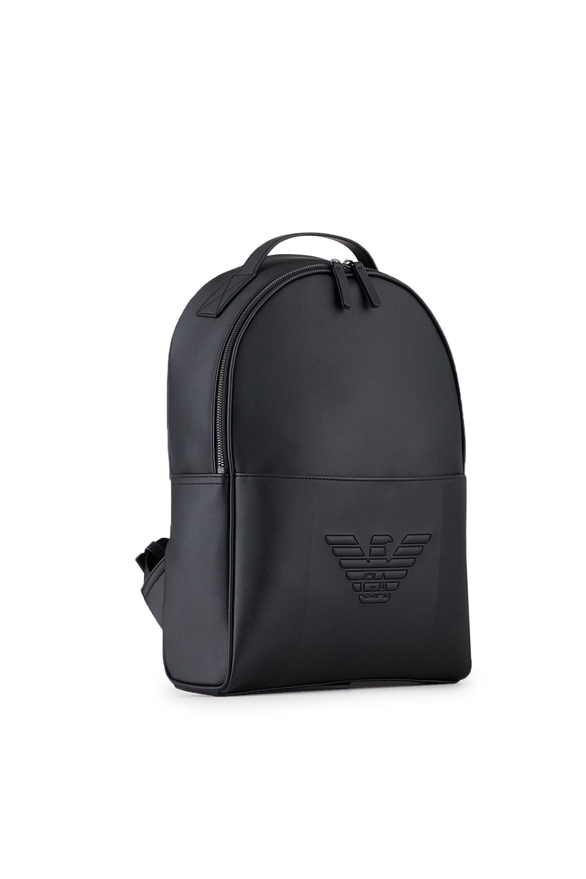 Emporio Armani Logo Baskılı Ayarlanabilir Askılı Erkek Çanta Y4O215 YFE6J 81072 SİYAH