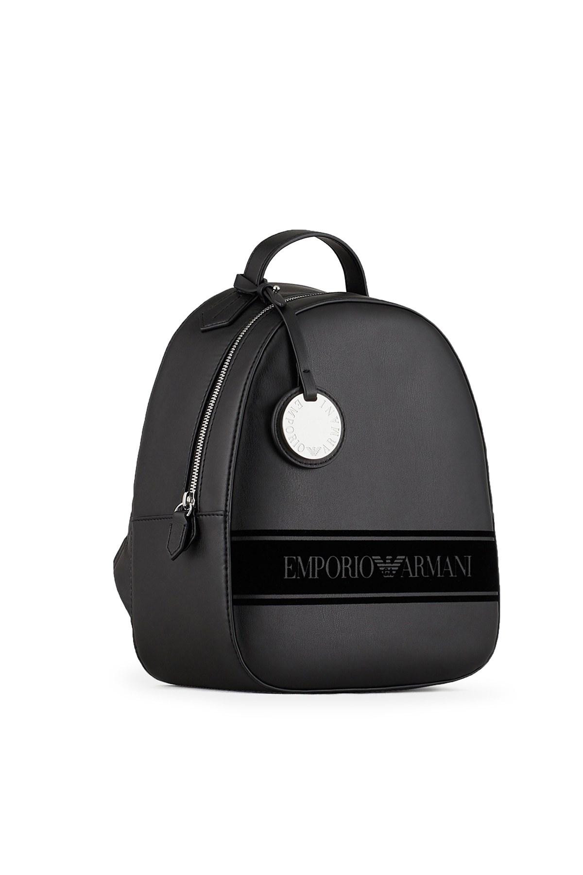 Emporio Armani Logo Baskılı Ayarlanabilir Askılı Kadın Çanta Y3L024 YI48E 88291 SİYAH