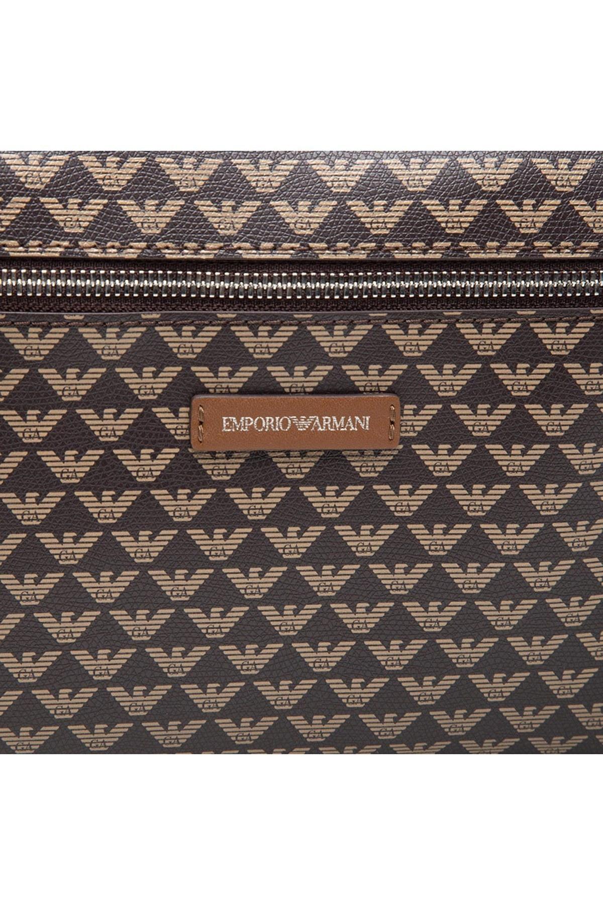 Emporio Armani Logo Baskılı Ayarlanabilir Askılı Bayan Çanta Y3L105 YFG5E 85172 KAHVE-TABA