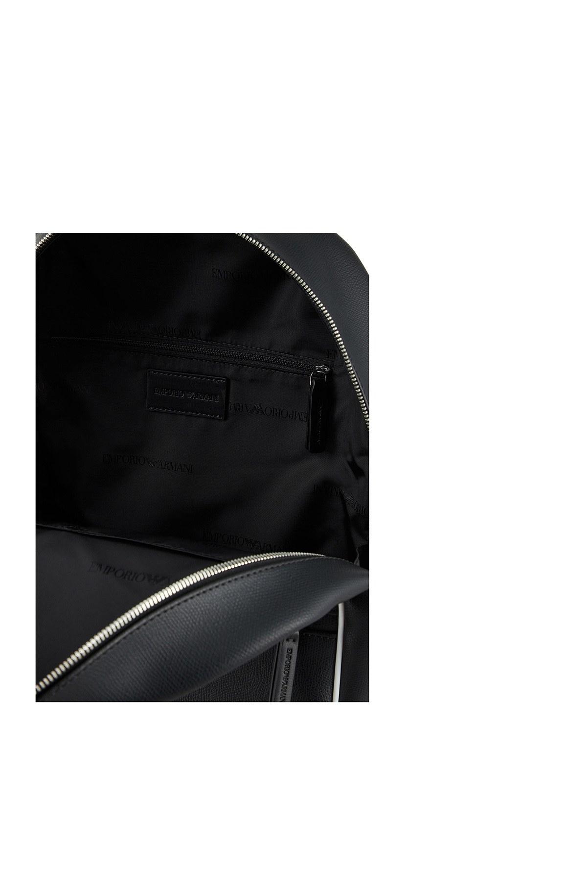 Emporio Armani Logo Baskılı Ayarlanabilir Askılı Sırt sı Erkek Çanta Y4O165 YFM4J 83896 SİYAH