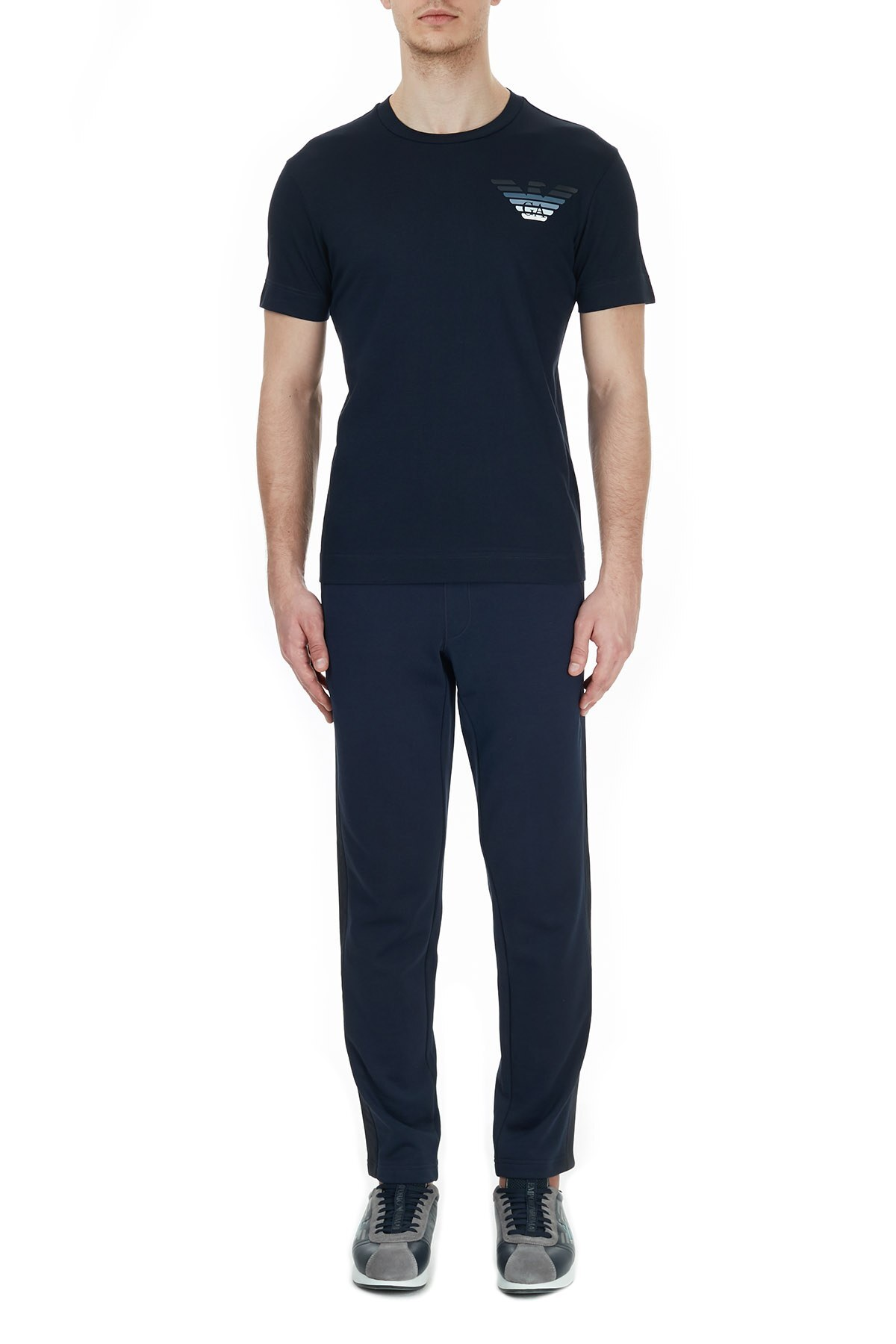 Emporio Armani Erkek T Shirt 6H1T6G 1JSHZ 0929 LACİVERT