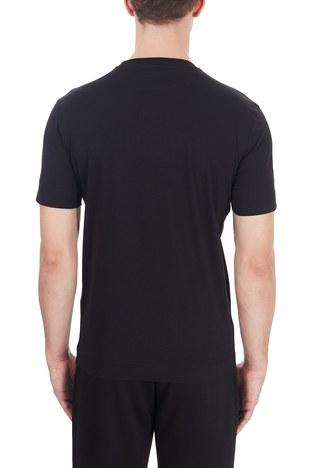 Emporio Armani - Emporio Armani Logo Baskılı Bisiklet Yaka % 100 Pamuk Erkek T Shirt 6H1TA3 1JDXZ 0999 SİYAH (1)