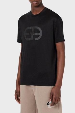 Emporio Armani - Emporio Armani Logo Baskılı Bisiklet Yaka Erkek T Shirt 3K1TAD 1JUVZ 0999 SİYAH