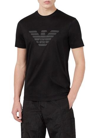 Emporio Armani - Emporio Armani Erkek T Shirt 3K1TAG 1JUVZ 0034 SİYAH
