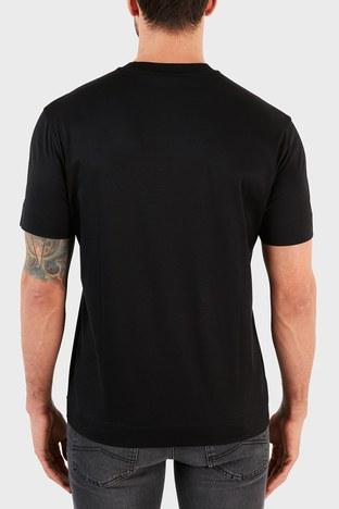 Emporio Armani - Emporio Armani Logo Baskılı Bisiklet Yaka Erkek T Shirt S 3K1TQ0 1JUVZ 0999 SİYAH (1)