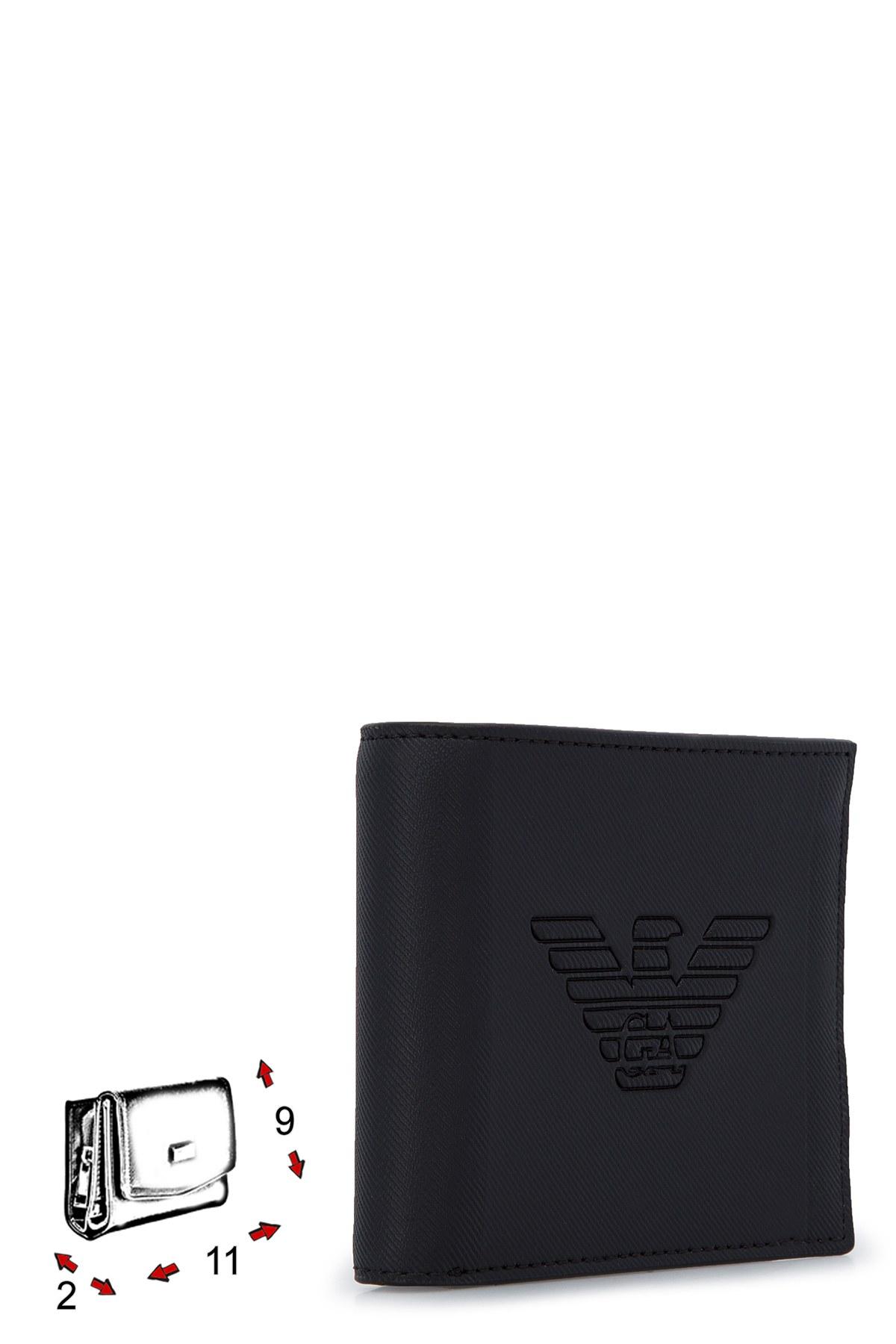 Emporio Armani Logo Baskılı Erkek Cüzdan Y4R168 YFE6J 81072 SİYAH
