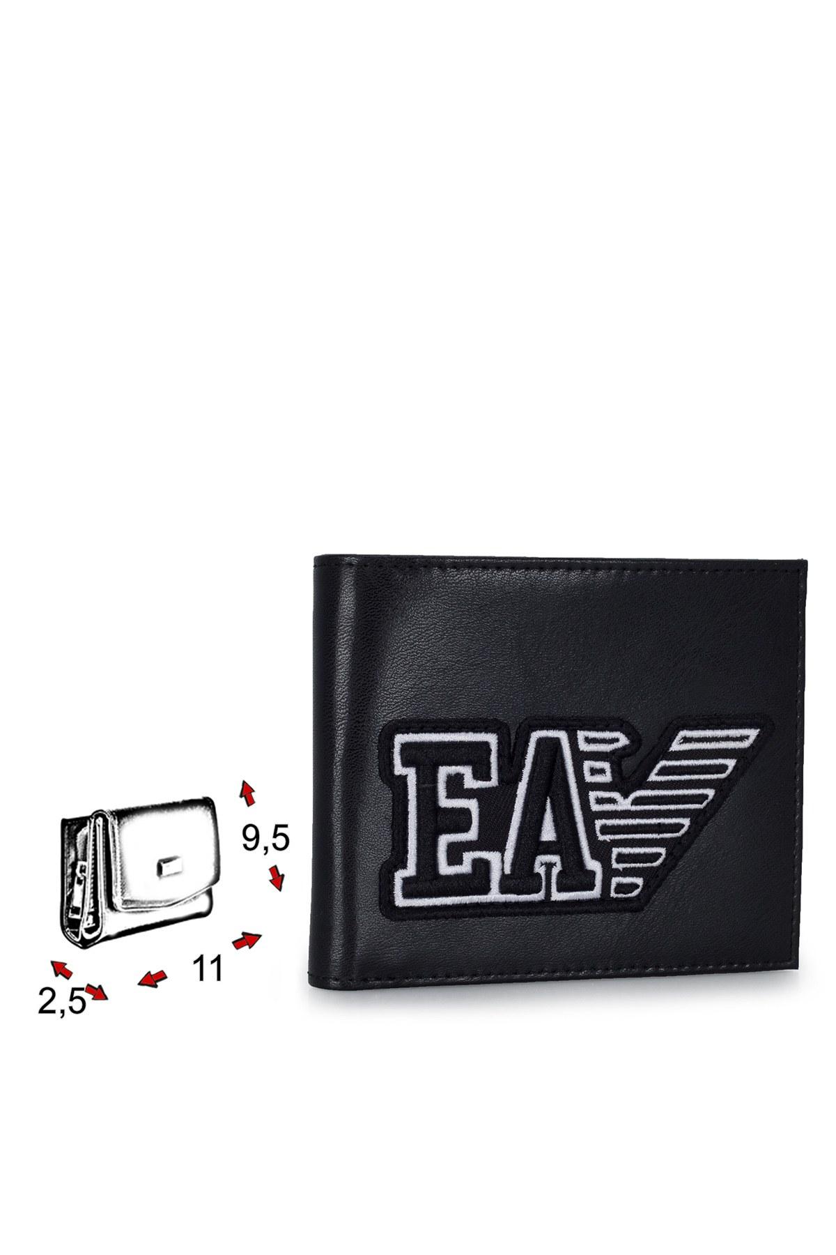 Emporio Armani Logo Baskılı Erkek Cüzdan Y4R168 YTC2E 81072 SİYAH