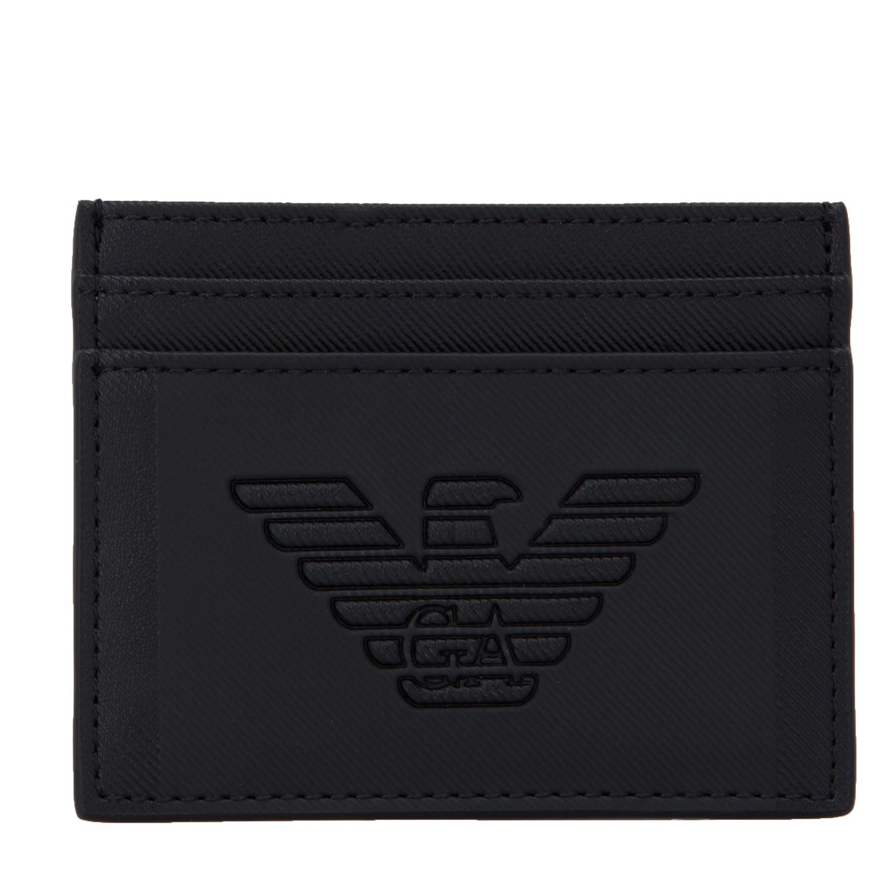 Emporio Armani Logo Baskılı Erkek Kartlık Y4R125 YFE6J 81072 SİYAH