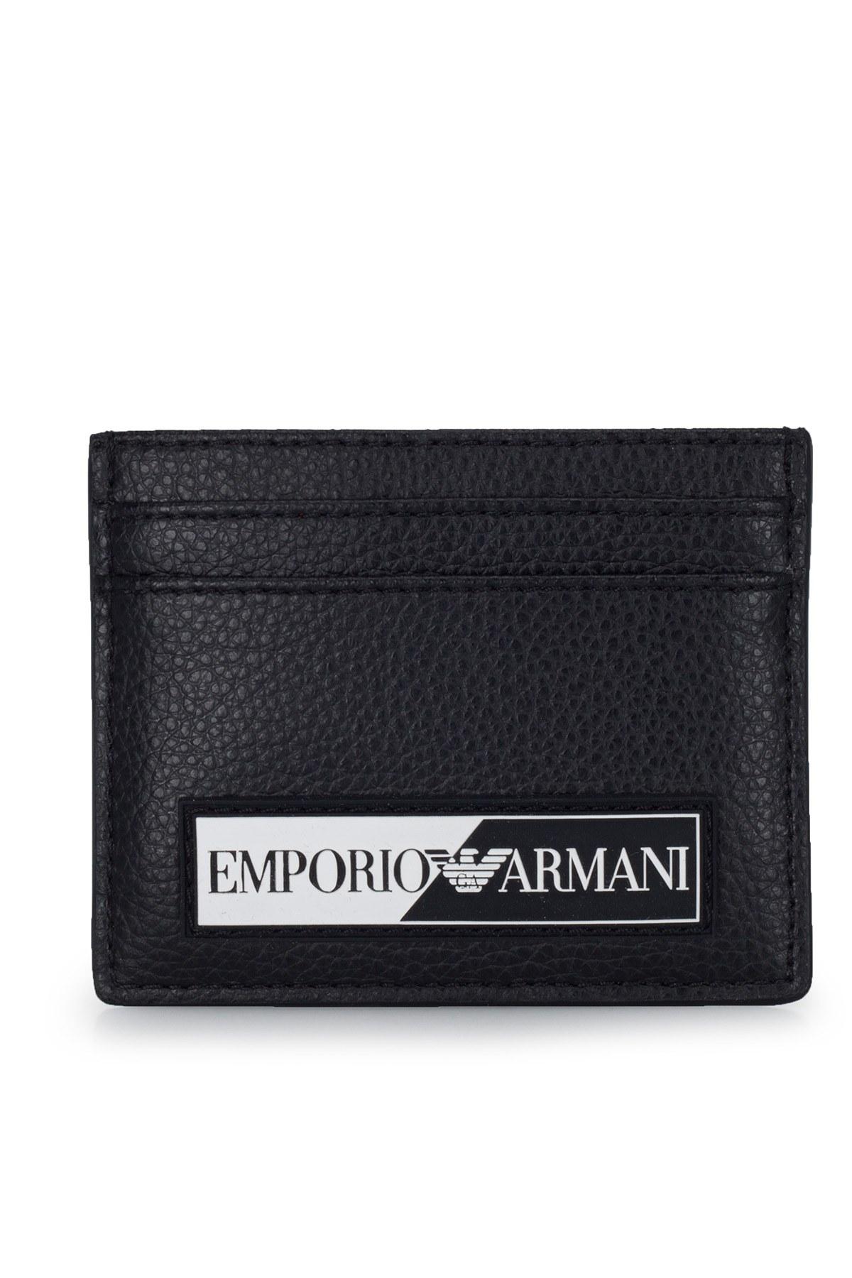 Emporio Armani Logo Baskılı Erkek Kartlık Y4R168 YTA2J 81072 SİYAH