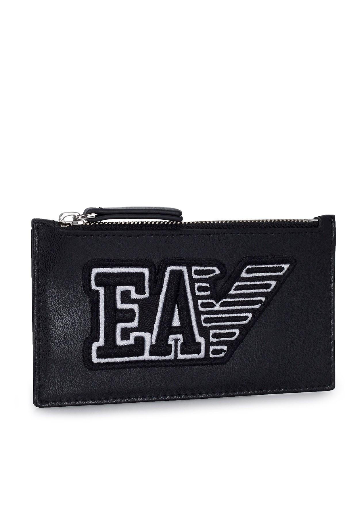 Emporio Armani Logo Baskılı Erkek Kartlık Y4R179 YTC2E 81072 SİYAH