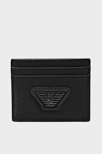 Emporio Armani Logo Baskılı Erkek Kartlık Y4R324 Y019V 81072 SİYAH