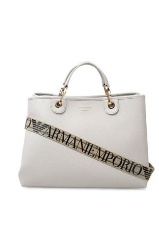 Emporio Armani - Emporio Armani Marka Logolu Askı Detaylı Omuz Kadın Çanta Y3D165 YFO5B 85175 GRİ