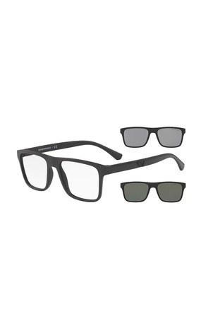 Emporio Armani - Emporio Armani Güneş Erkek Gözlük 0EA4115 58011W 54 SİYAH