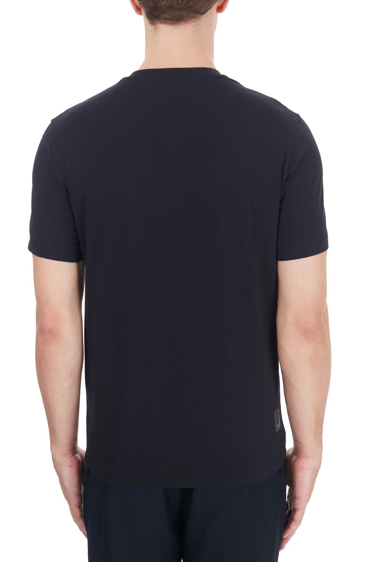Emporio Armani Pamuklu Bisiklet Yaka Erkek T Shirt 6H1TS2 1JJRZ 0920 LACİVERT