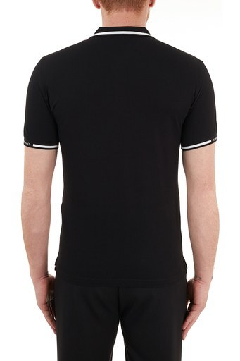 Emporio Armani Pamuklu Düğmeli T Shirt Erkek Polo S 6H1FF5 1JPTZ 0999 SİYAH