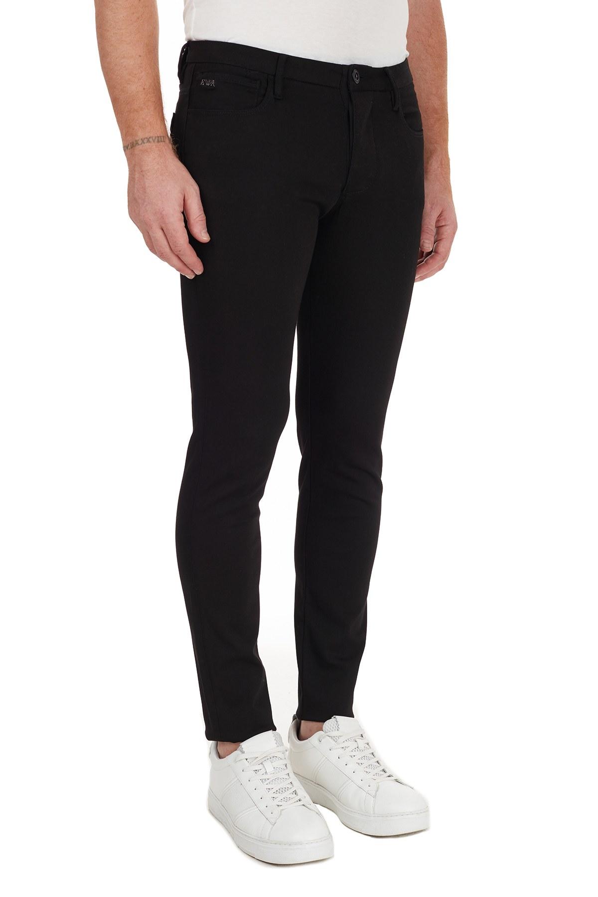 Emporio Armani Pamuklu Extra Slim Fit J11 Jeans Erkek Kot Pantolon 6H1J11 1DHDZ 0005 SİYAH