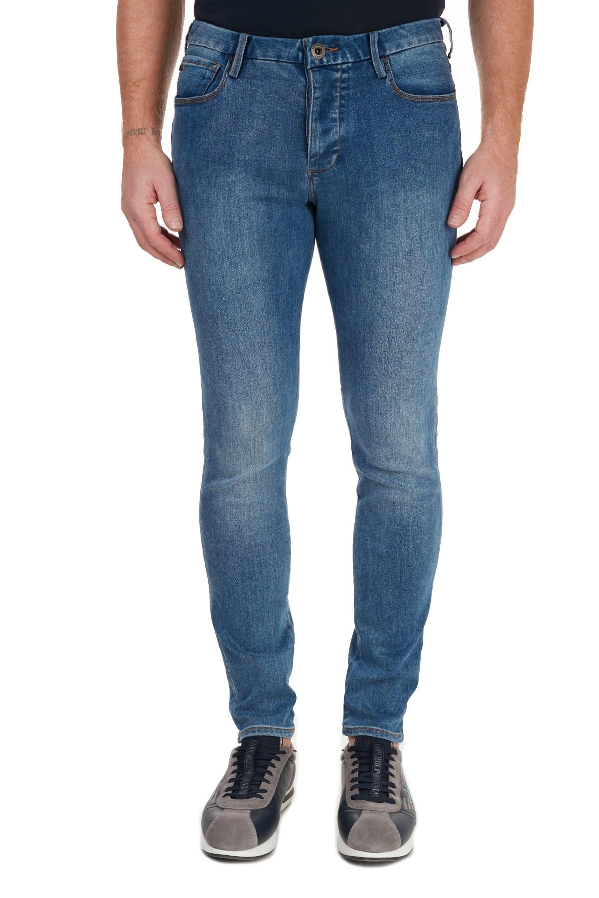 Emporio Armani J11 Jeans Erkek Kot Pantolon 6H1J11 1DPFZ 0942 LACİVERT