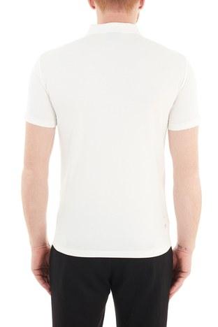 Emporio Armani - Emporio Armani Pamuklu Fermuarlı T Shirt Erkek Polo S 6H1FE0 1JJRZ 0101 BEYAZ (1)