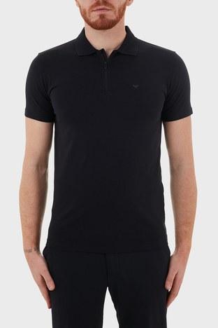 Emporio Armani - Emporio Armani Pamuklu Fermuarlı T Shirt Erkek Polo S 6H1FE0 1JJRZ 0920 LACİVERT