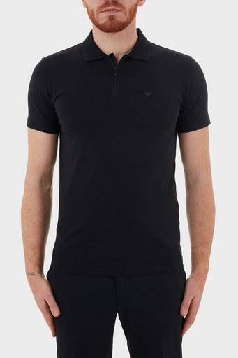 Emporio Armani Pamuklu Fermuarlı T Shirt Erkek Polo S 6H1FE0 1JJRZ 0920 LACİVERT