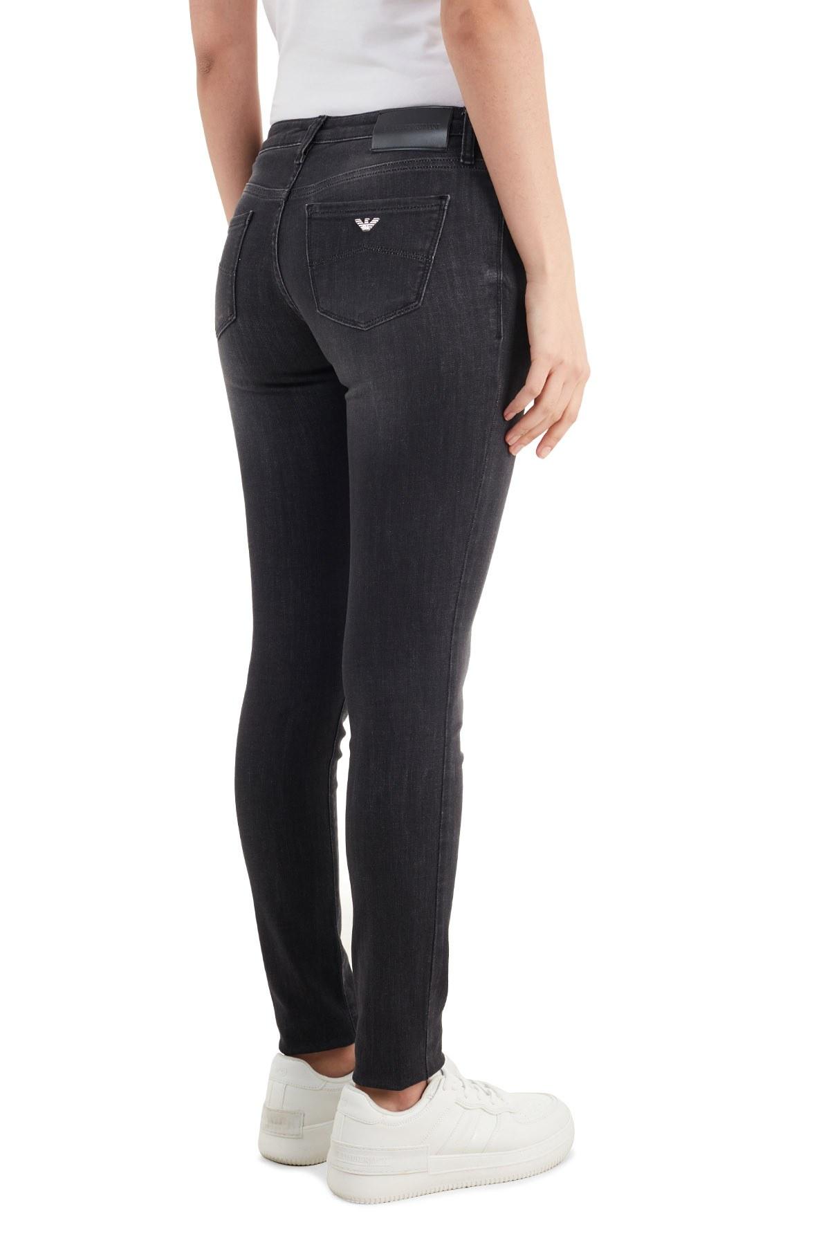 Emporio Armani Skinny Pamuklu J06 Jeans Bayan Kot Pantolon 3K2J06 2DE9Z 0668 SİYAH