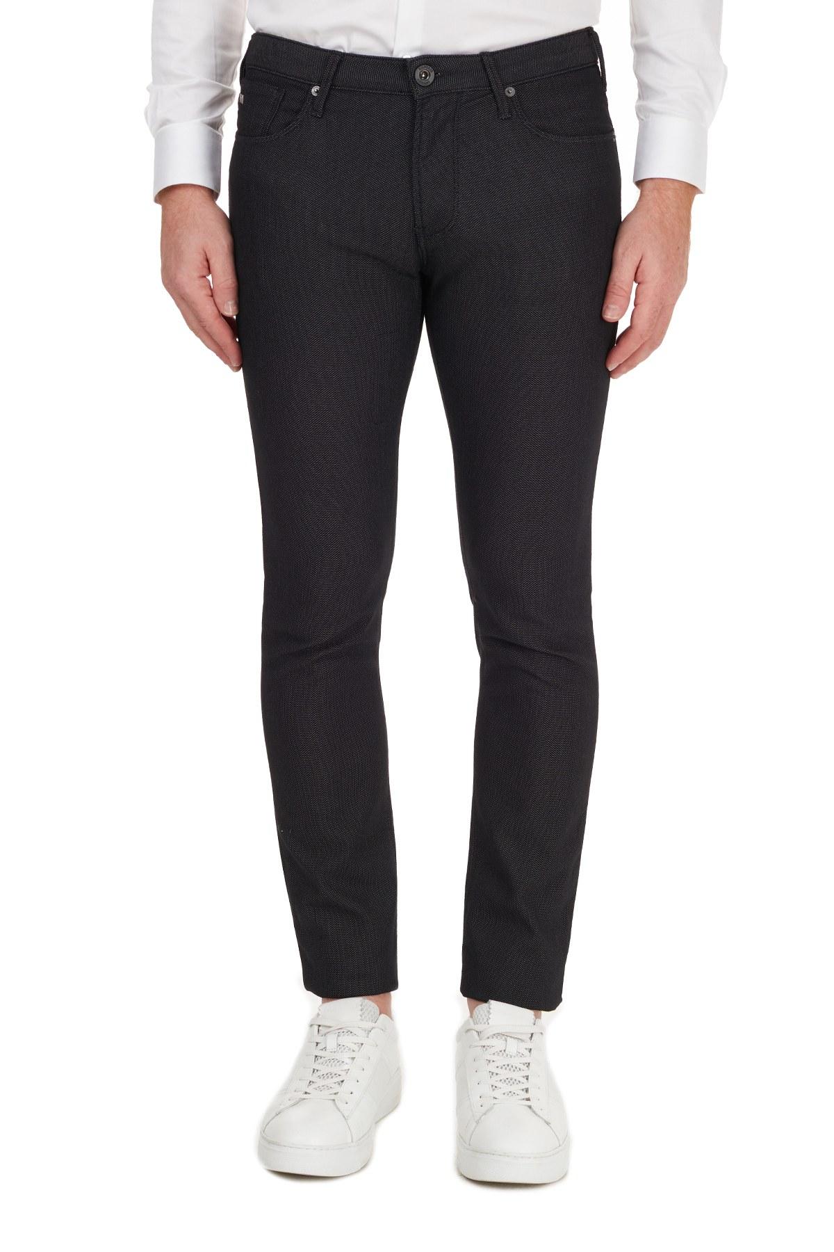 Emporio Armani Pamuklu Slim Fit J06 Jeans Erkek Kot Pantolon 6H1J06 1N2NZ 0999 SİYAH