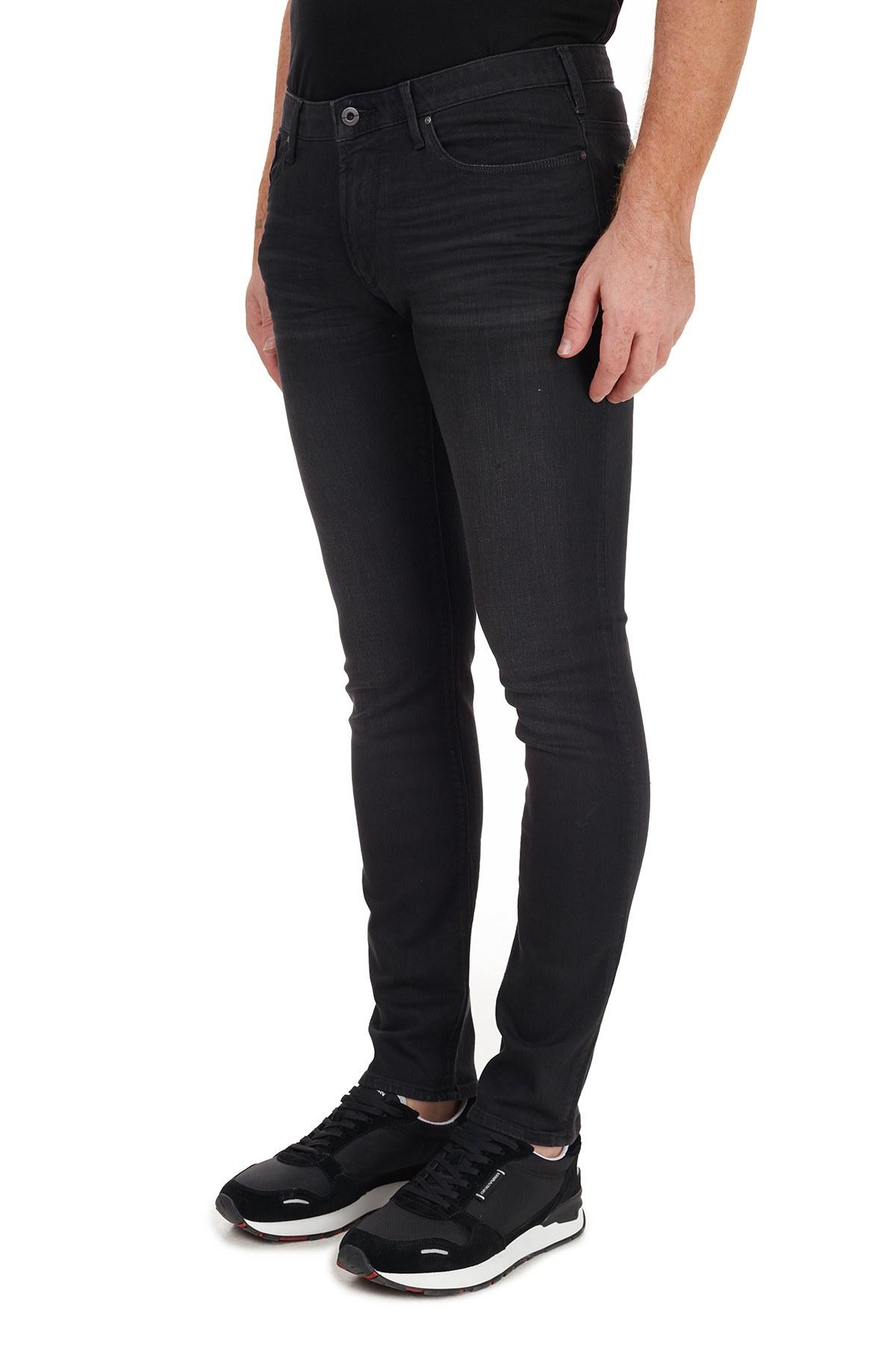 Emporio Armani Pamuklu Slim Fit J06 Jeans Erkek Kot Pantolon 8N1J06 1D0IZ 0006 SİYAH
