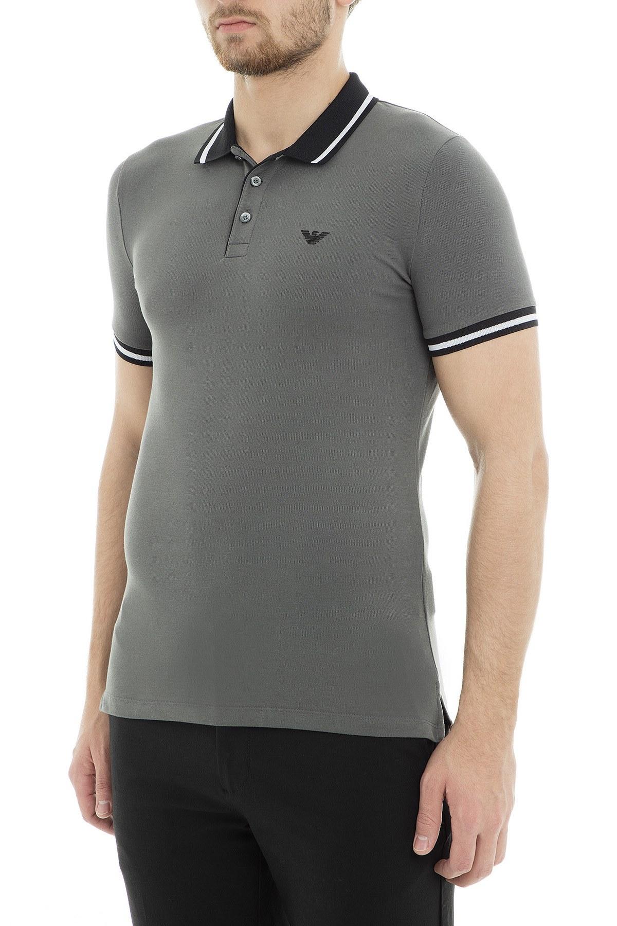 Emporio Armani Polo Erkek T Shirt 3G1F66 1J46Z 0641 GRİ