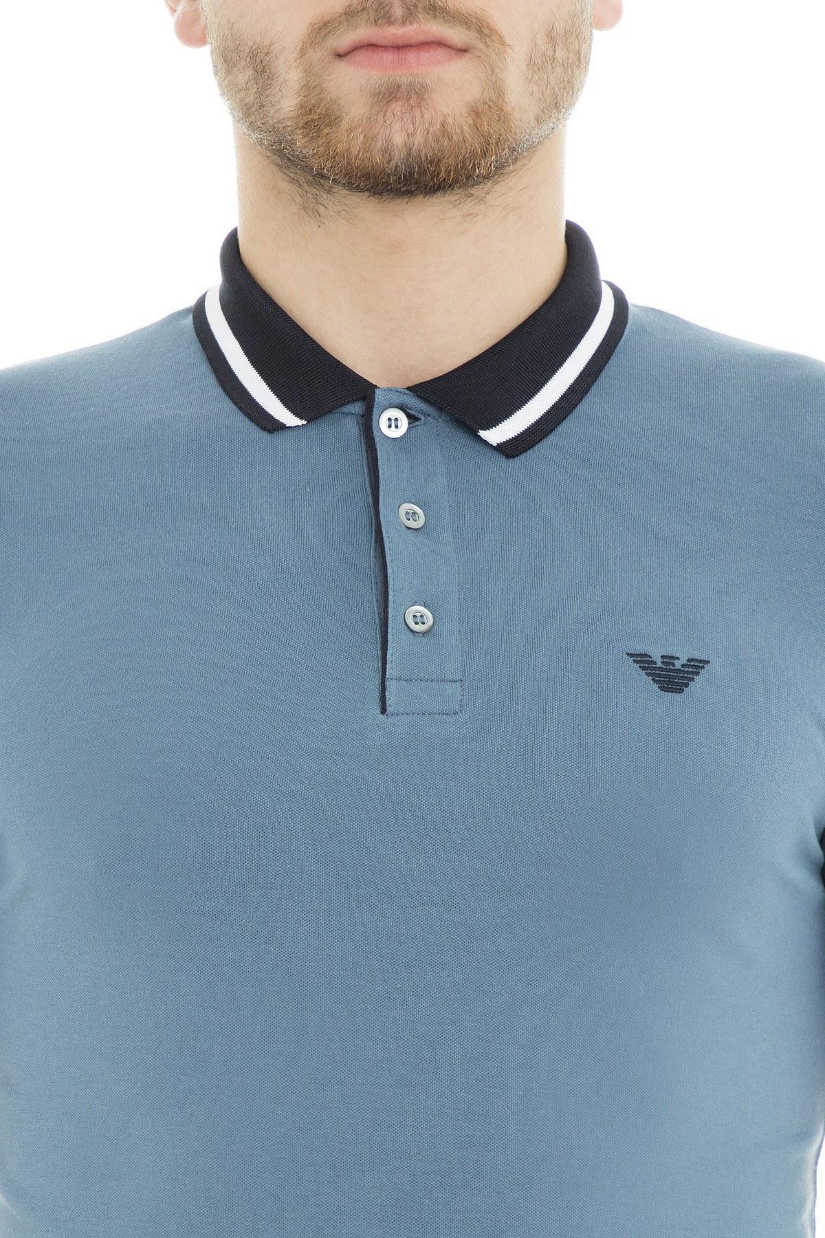 Emporio Armani Polo Erkek T Shirt 3G1F66 1J46Z 0947 MAVİ