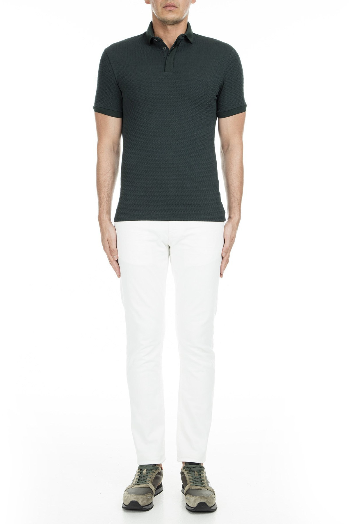 Emporio Armani Polo Erkek T Shirt 3G1F72 1J57Z 0537 YEŞİL