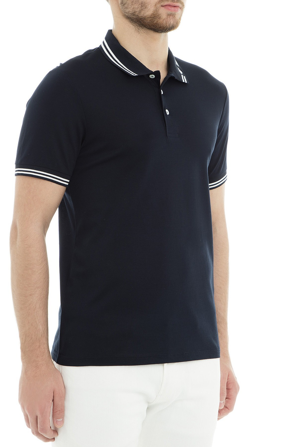 Emporio Armani Polo Erkek T Shirt 3G1FL0 1JBQZ 0920 LACİVERT