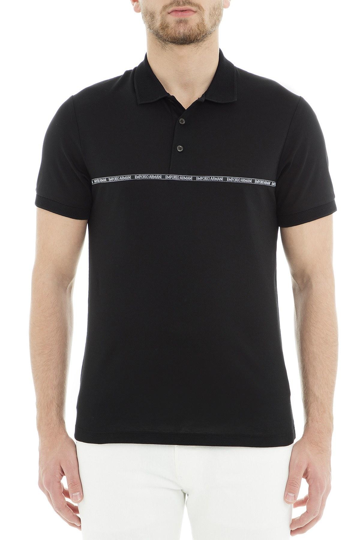 Emporio Armani Polo Erkek T Shirt 3G1FL2 1JBQZ 0999 SİYAH