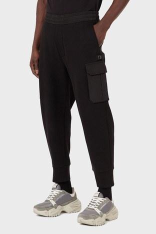Emporio Armani - Emporio Armani Rahat Kesim Belden Bağlamalı Jogger Erkek Pantolon 3K1P94 1JHSZ 0999 SİYAH