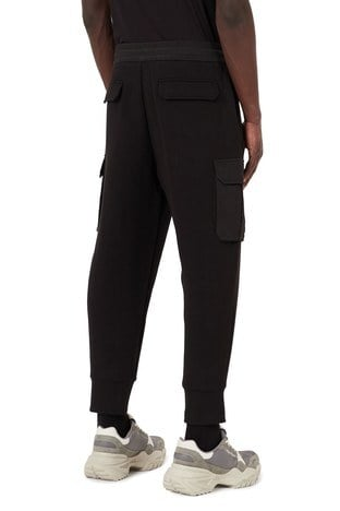 Emporio Armani - Emporio Armani Rahat Kesim Belden Bağlamalı Jogger Erkek Pantolon 3K1P94 1JHSZ 0999 SİYAH (1)