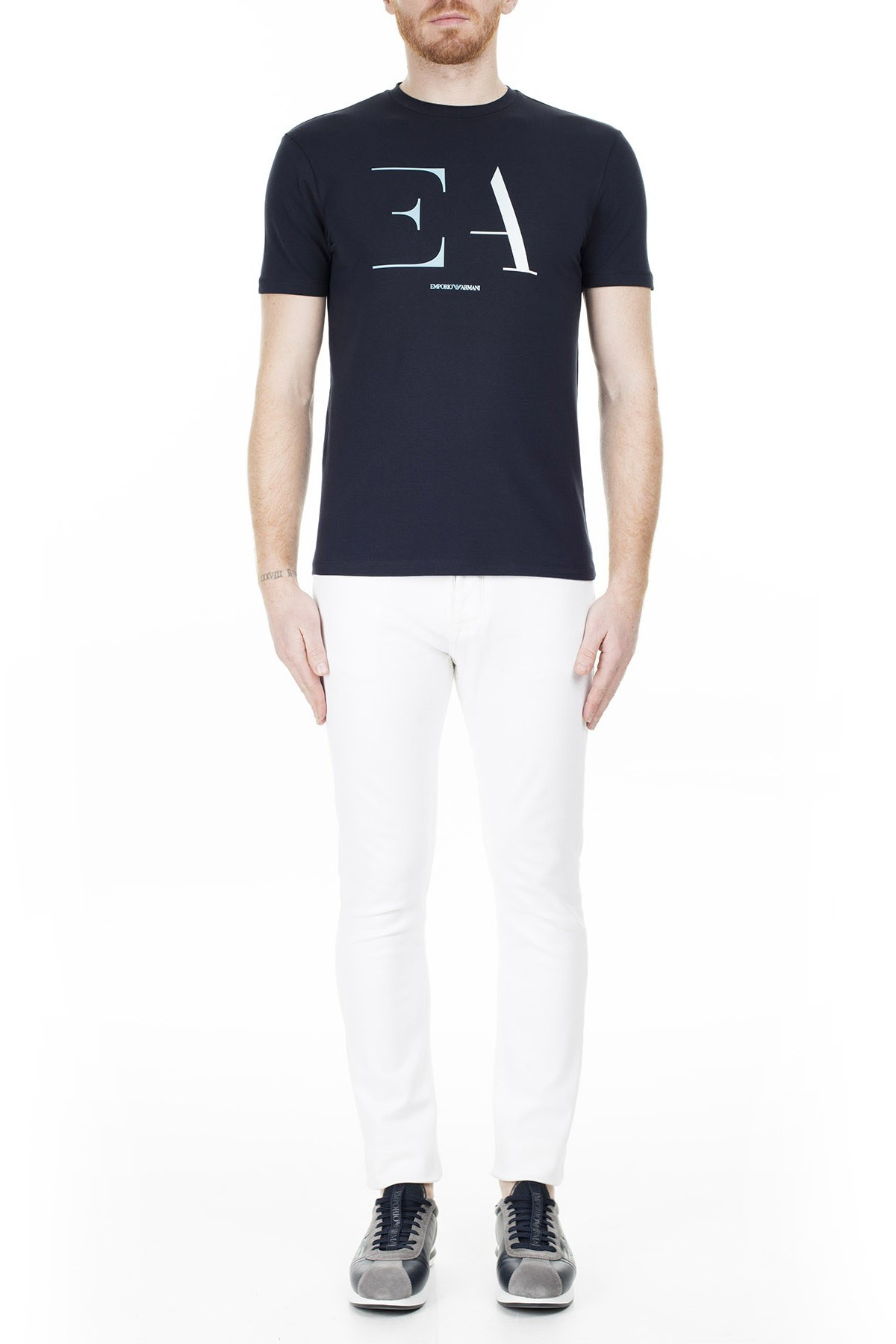 Emporio Armani Regular Fit Erkek T Shirt 3H1TA5 1J0AZ 0922 LACİVERT