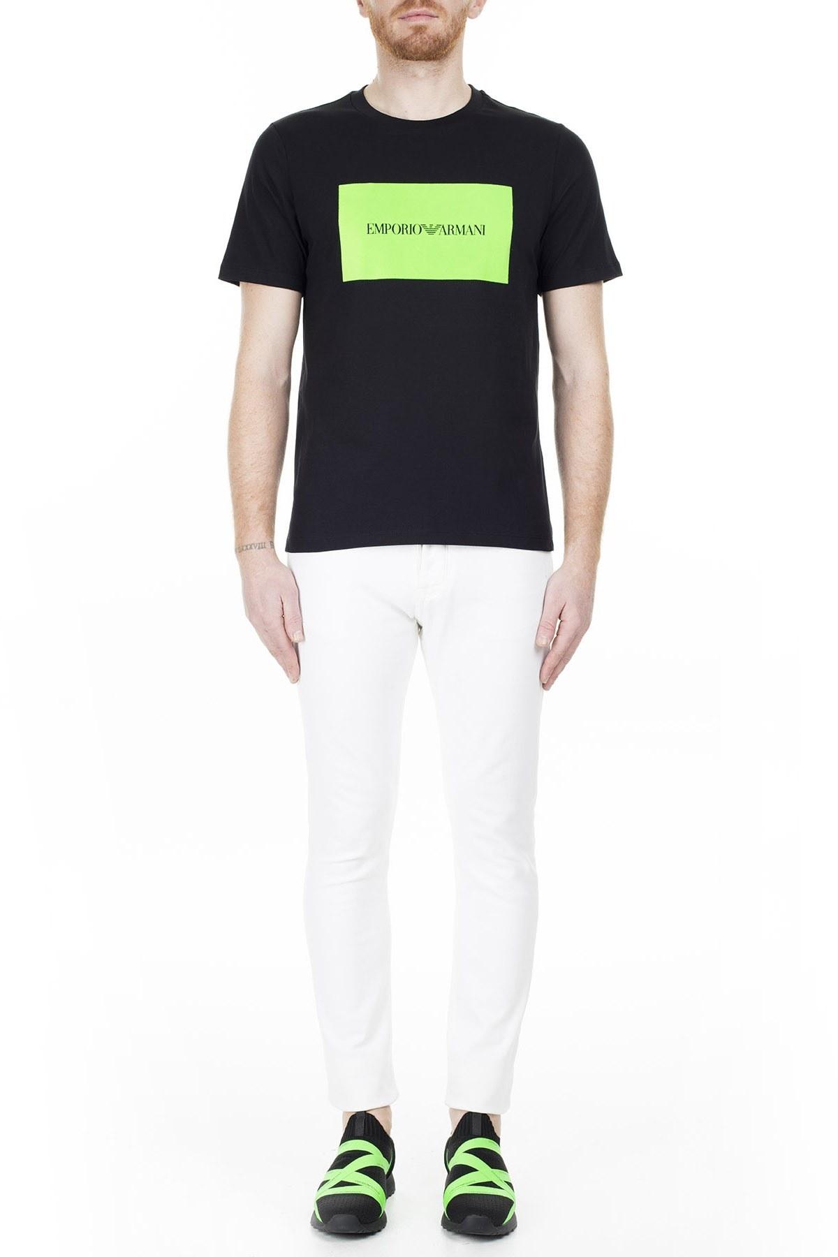 Emporio Armani Regular Fit Erkek T Shirt 3H1TD0 1J30Z 0002 SİYAH