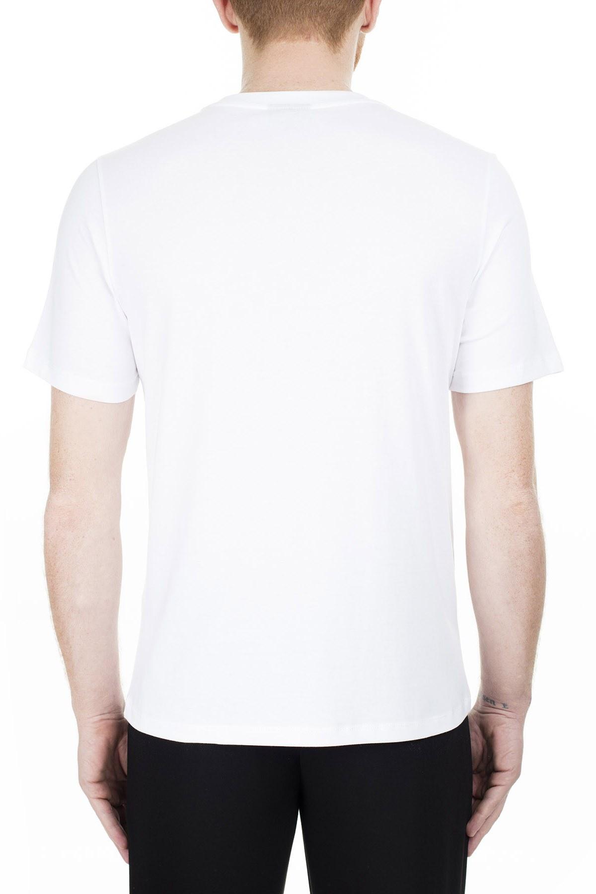 Emporio Armani Regular Fit Erkek T Shirt 3H1TD0 1J30Z 0102 BEYAZ