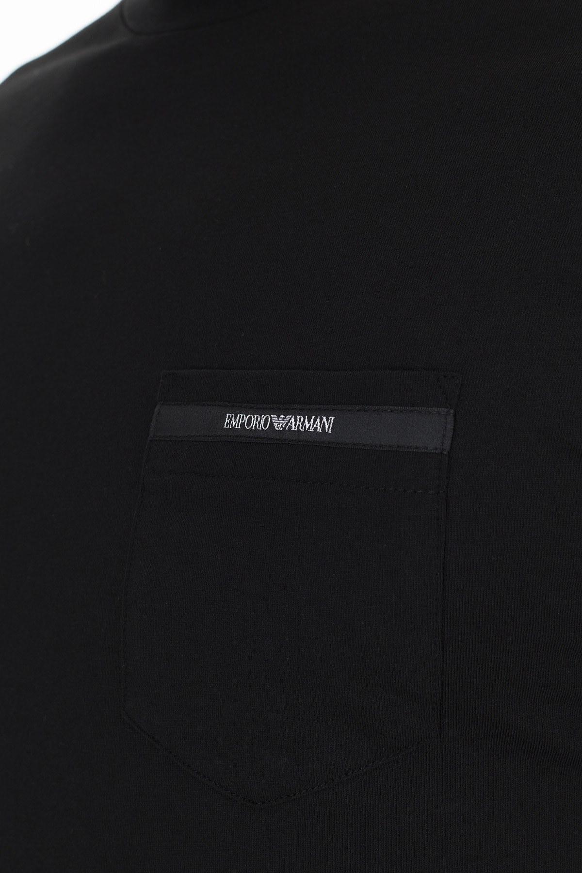 Emporio Armani Regular Fit Erkek T Shirt S 6G1TA6 1J00Z 0999 SİYAH