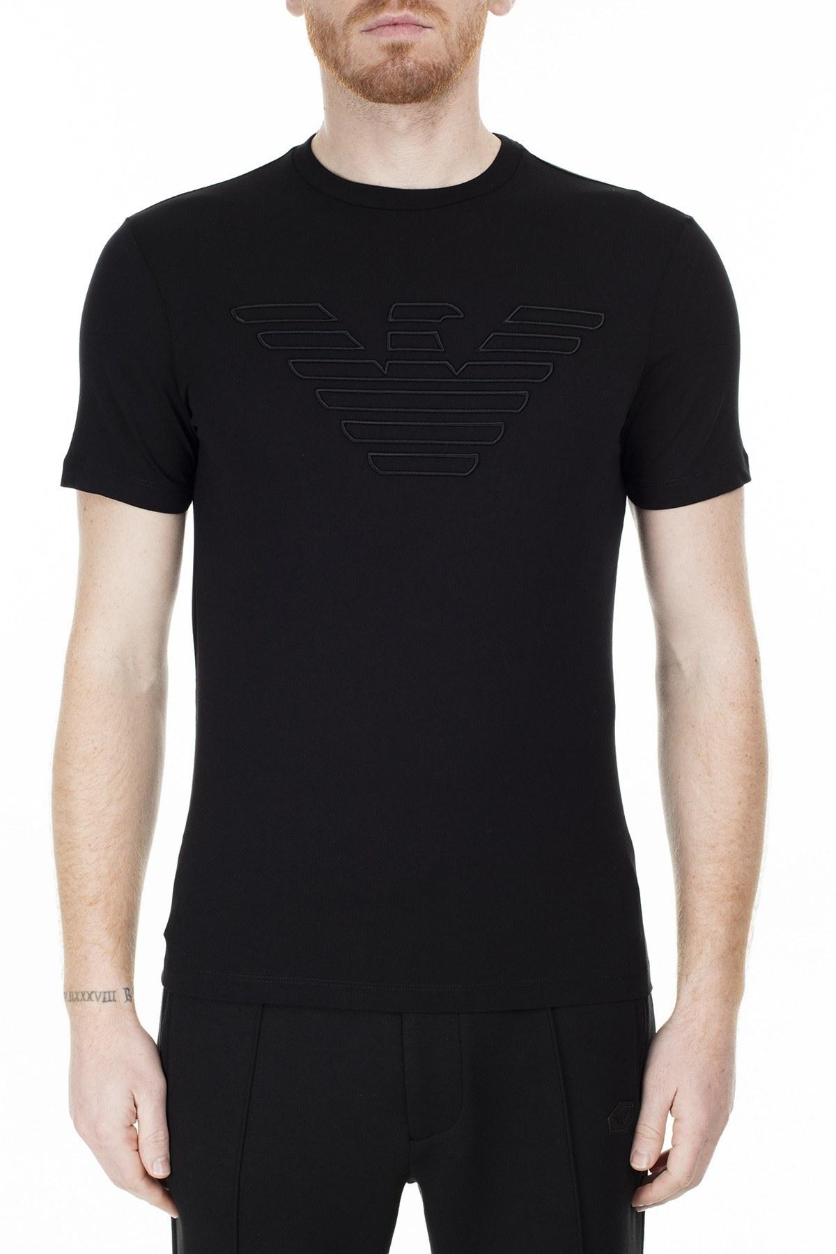 Emporio Armani Regular Fit Erkek T Shirt S 6G1TC1 1J19Z 0999 SİYAH