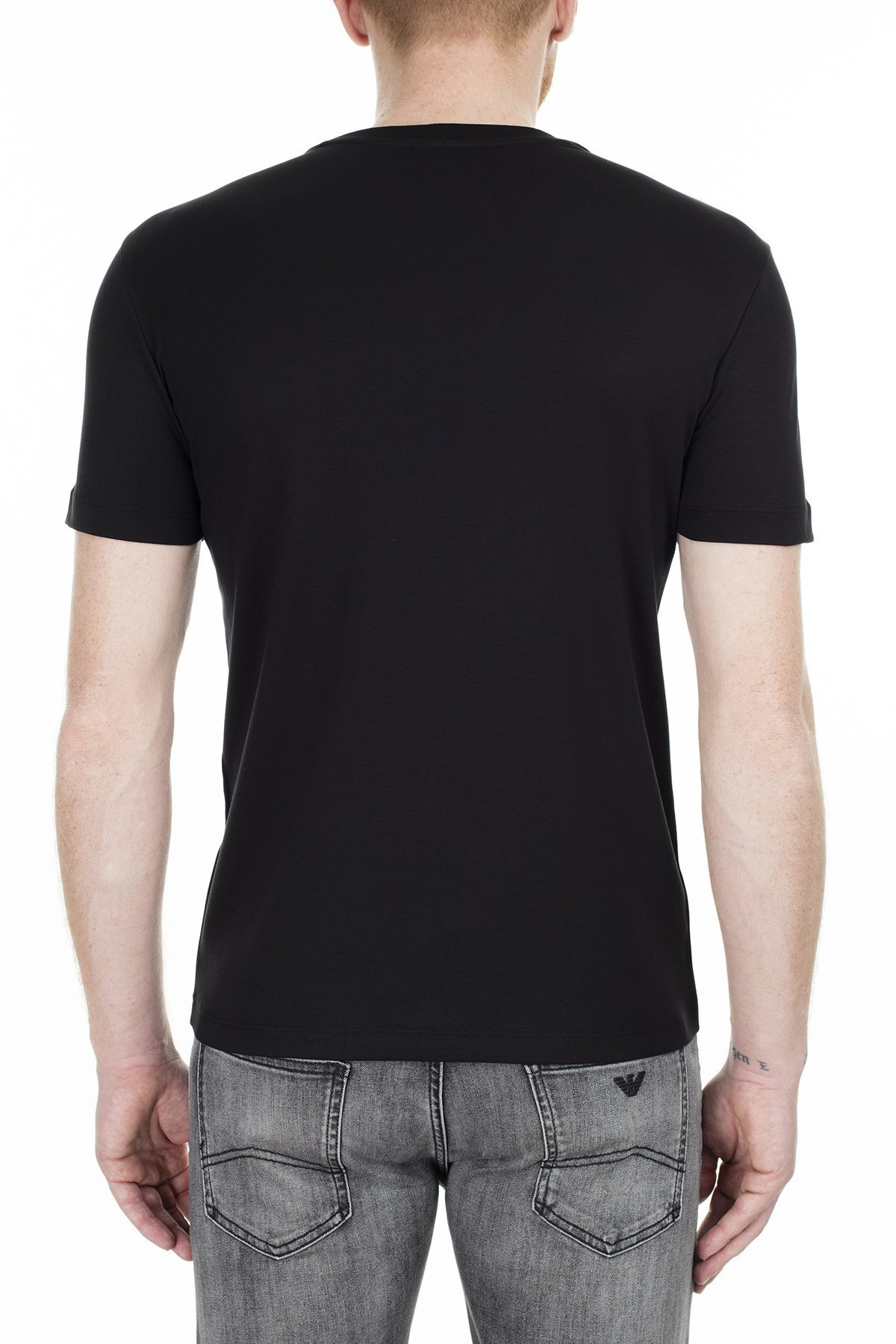 Emporio Armani Regular Fit Erkek T Shirt S 6G1TE1 1JPRZ 0999 SİYAH