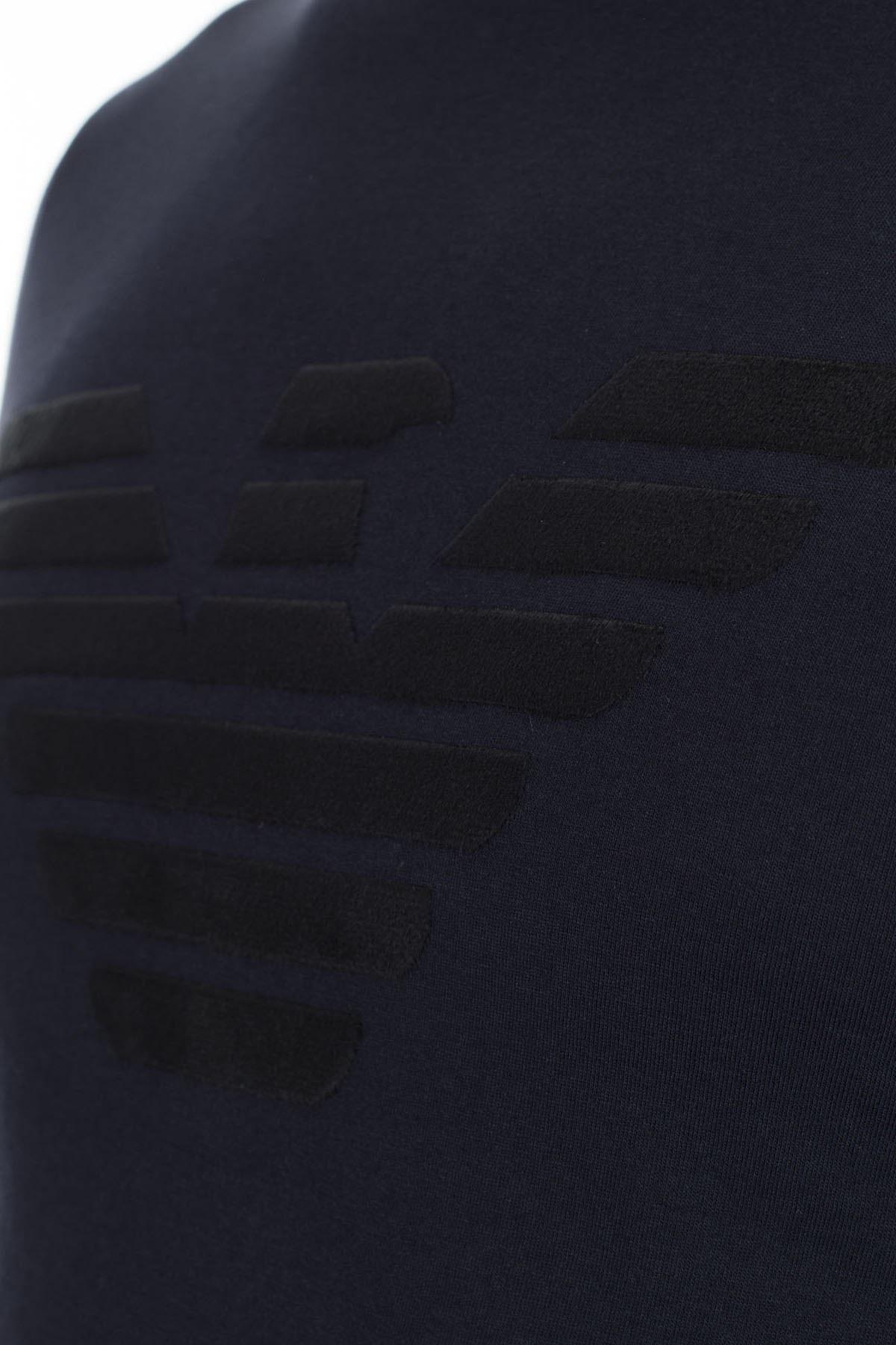 Emporio Armani Regular Fit Erkek T Shirt S 6G1TE6 1J00Z 0922 LACİVERT