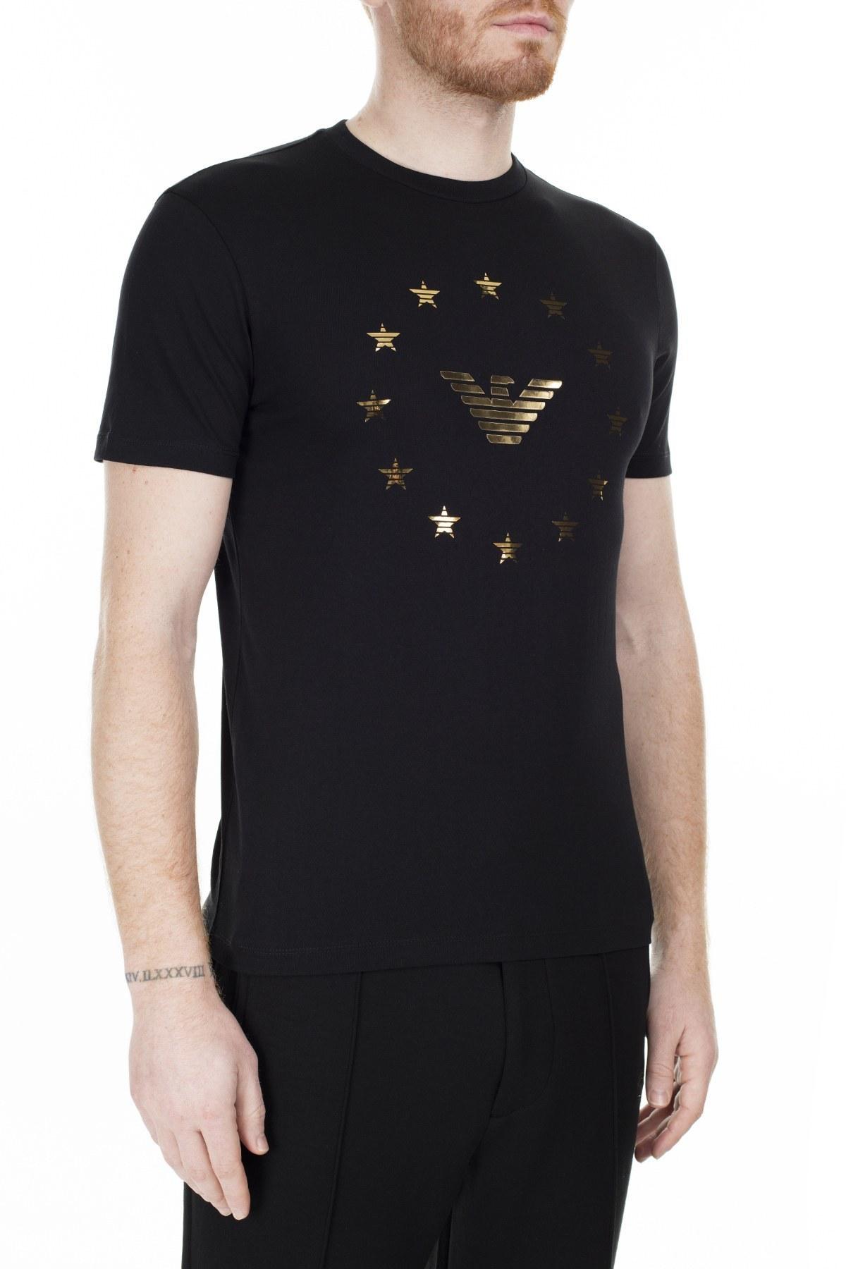Emporio Armani Regular Fit Erkek T Shirt S 6G1TE8 1J00Z 0999 SİYAH