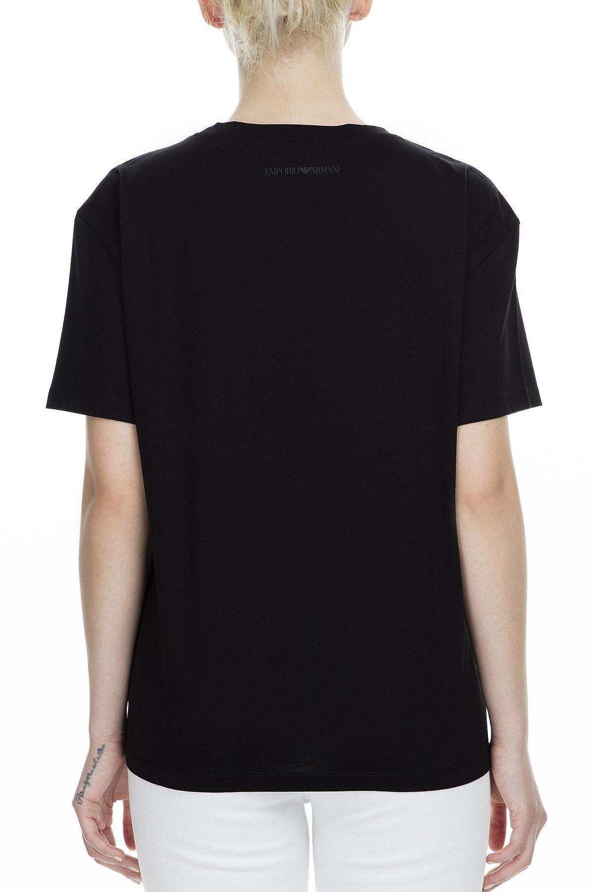 Emporio Armani Regular Fit Kadın T Shirt 6G2T7M 2J95Z 0999